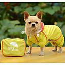 halpa Koiran vaatteet-Koira Sadetakki Koiran vaatteet Yhtenäinen Keltainen Fuksia Sininen Polyesteri Asu Käyttötarkoitus 봄 & Syksy Kesä Miesten Naisten Rento / arki