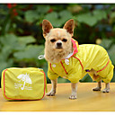 abordables Ropa para Perro-Perro Impermeable Ropa para Perro Un Color Amarillo Fucsia Azul Poliéster Disfraz Para Primavera & Otoño Verano Hombre Mujer Casual / Diario