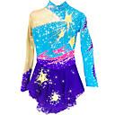 abordables Vestido de Patinaje Sobre Hielo-Vestido de patinaje artístico Mujer / Chica Patinaje Sobre Hielo Vestidos Azul Claro Licra Pedrería Alta elasticidad Rendimiento Ropa de