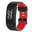 baratos Smartwatches-Pulseira inteligente NO.1 F4 para iOS / Android Monitor de Batimento Cardíaco / Calorias Queimadas / satélite / Tela de toque / Impermeável Podômetro / Aviso de Chamada / Monitor de Atividade