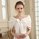 cheap Wedding Wraps-Faux Fur Wedding / Party / Evening Women's Wrap With Bowknot Capelets