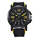 cheap Necklaces-Men's Women's Casual Watch Sport Watch Fashion Watch Quartz Calendar / date / day Cool Punk Silicone Band Analog Luxury Casual Bangle Black - Yellow Red Blue / Large Dial
