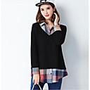baratos Acessórios de Cabelo-Mulheres Camisa Social Sólido Estampa Colorida Algodão Colarinho de Camisa