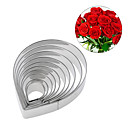 cheap Lighting Accessories-10Pcs Rose Flower Petal Cookie Cutter Fondant Stainless Steel Cake Mold