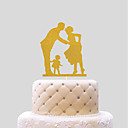 cheap Wedding Decorations-Cake Topper Wedding Hearts Paper Wedding with 1 pcs PVC Bag