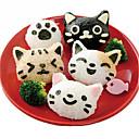 olcso Bajonettzáras LED lámpák-3db aranyos mosoly macska sushi nori rizs penész bento készítő szendvics diy eszköz