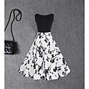 cheap Earrings-Women's Vintage Cotton Sheath / Swing Dress - Floral