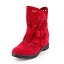 abordables Botas de Mujer-Mujer Zapatos Semicuero Verano / Invierno Confort / botas slouch Botas Tacón Bajo Dedo redondo Botines / Hasta el Tobillo Pajarita Gris /