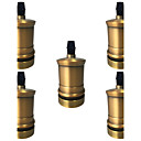 preiswerte Lampenbasen & Steckverbinder-5 pcs e26 / e27 buchse schraube lampen metall shell medium base edison retro pendelleuchte halter ohne schalter und schnur 110-240 v
