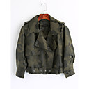 cheap Hifi player-Women's Vintage Leather Jacket-Camouflage