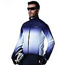 billige Bell & Låse & Mirrors-SANTIC Herre Cykeljakke Cykel Toppe Vindtæt Geometrisk Blå Cykeltøj