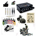 cheap Starter Tattoo Kits-Tattoo Machine Starter Kit - 1 pcs Tattoo Machines with 7 x 15 ml tattoo inks, Professional LED power supply Case Included 1 alloy machine liner & shader