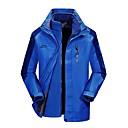 cheap Softshell, Fleece & Hiking Jackets-Men's Hiking Jacket Outdoor Winter Windproof Rain Waterproof Breathability Wearable 3-in-1 Jacket Top Full Length Visible Zipper Camping / Hiking Climbing Cycling / Bike Sky Blue / Red / Royal Blue