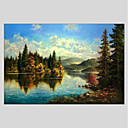 cheap Landscape Paintings-Oil Painting Hand Painted - Landscape Comtemporary Canvas / Stretched Canvas