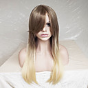 cheap Synthetic Capless Wigs-Synthetic Wig Straight Blonde Layered Haircut Synthetic Hair Ombre Hair / Highlighted / Balayage Hair Blonde Wig Women's Long Capless