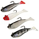 cheap Fishing Lures & Flies-4 pcs Soft Bait Plastic Sea Fishing Bait Casting Spinning Jigging Fishing Freshwater Fishing General Fishing Lure Fishing