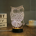 cheap Night Lights-1 Set, Popular Home Acrylic 3D Night Light LED Table Lamp USB Mood Lamp Gifts, Owl