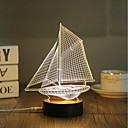 cheap Night Lights-1 Set, Popular Home Acrylic 3D Night Light LED Table Lamp USB Mood Lamp Gifts, Sailing
