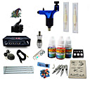 cheap Starter Tattoo Kits-Tattoo Machine Starter Kit - 1 pcs Tattoo Machines with 1 x 5 ml tattoo inks, High Speed, Professional LCD power supply Case Not Included 1 rotary machine liner & shader