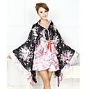 tanie Zestawy narzędzi-Sukienka Wa Lolita Retro Damskie Dla dziewczynek Tradycyjne japońskie kimono Cosplay Kwiaty Długi rękaw Asymetryczna Kostiumy