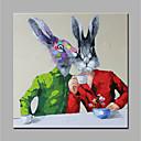 abordables Cuadros de Animales-Pintura al óleo pintada a colgar Pintada a mano - Animales Modern Lona