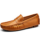 cheap Men's Athletic Shoes-Men's Moccasin Nappa Leather Fall / Winter Loafers & Slip-Ons Black / Brown / Blue / Party & Evening