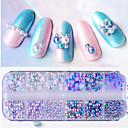 cheap Rhinestone & Decorations-1box Glitter Powder Nail Jewelry Pearls Professional / Lovely nail art Manicure Pedicure Daily / Party & Evening Fashionable Jewelry / Luxury / Accessories