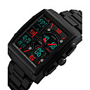 cheap Microphones-Men's Sport Watch Military Watch Wrist Watch Japanese Quartz 50 m Water Resistant / Water Proof Calendar / date / day Chronograph Plastic Band Analog-Digital Vintage Casual Bangle Black - Black Red