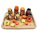 olcso Sütőeszközök-8db rozsdamentes acél puzzle virág alakú gyümölcs zöldség vágó konyhai eszközök penész