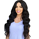 cheap Synthetic Capless Wigs-Synthetic Wig Loose Wave Synthetic Hair Middle Part Black Wig Women's Long Capless