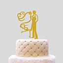 olcso Torta díszek-Tortadísz Esküvő Szívek Papír Esküvő val vel 1 PVC táska