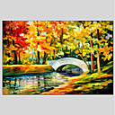 cheap Women's Athletic Shoes-Oil Painting Hand Painted - Landscape Classic Canvas