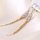 tanie Modne kolczyki-Damskie Frędzel Kolczyki wiszące - Pokryte różowym złotem Kwiat Kutas, Artystyczny, Boho Różowe złoto Na Impreza / Klubowa