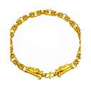 cheap Men's Rings-Men's Chain Bracelet - Gold Plated Dragon, Animal Hip-Hop Bracelet Gold For Street / Club