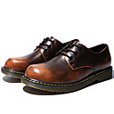 cheap Men's Oxfords-Men's Cowhide Fall / Winter Comfort Oxfords Gray / Brown / Red