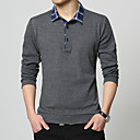 cheap Softshell, Fleece & Hiking Jackets-Men's Work Cotton Polo - Solid Colored / Color Block Shirt Collar / Long Sleeve