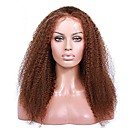 cheap Human Hair Wigs-Remy Human Hair Glueless Full Lace / Glueless Lace Front / Full Lace Wig Brazilian Hair Kinky Curly Wig With Baby Hair 130% / 150% / 180% Natural Hairline / 100% Virgin / Unprocessed Women's Long