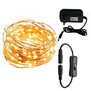 cheap LED String Lights-10m String Lights 100 LEDs Warm White / White / Red 100-240 V 1set / IP65