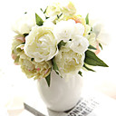 cheap Artificial Flower-Artificial Flowers 8 Branch European Peonies Tabletop Flower