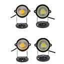 cheap LED Flood Lights-4pcs 3W Lawn Lights Waterproof Decorative Warm White Cold White 12V 85-265V Garden Courtyard Outdoor Lighting