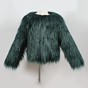 cheap Bakeware-Toddler Girls' Solid Colored Long Sleeve Regular Faux Fur / Special Fur Type Jacket & Coat Green Girl 3-4 Years(110cm)