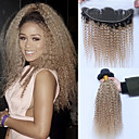 זול תוספות שיער בגוון טבעי-3 חבילות עם סגירה שיער ברזיאלי Kinky Curly שיער ראמי Ombre שוזרת שיער אנושי תוספות שיער אדם / קינקי קרלי