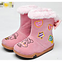 tanie Obuwie dziewczęce-Dla dziewczynek Obuwie Derma Jesień / Zima Wygoda / Śniegowce Botki na Różowy / Migdałowy