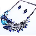 cheap Jewelry Sets-Women's Jewelry Set - Leaf Statement Include Purple / Green / Blue For Party / Gift / Earrings / Necklace