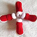 tanie Ubrania dla psów-Pies Botki / Buty Płaski obca / Śniegowce Jendolity kolor Czerwony Dla zwierząt domowych