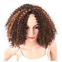 cheap Synthetic Capless Wigs-Synthetic Wig Women's Curly / Kinky Curly Brown Pixie Cut Synthetic Hair Middle Part / African American Wig Brown Wig Short Capless Brown