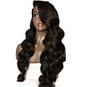 זול פיאות תחרה משיער אנושי-שיער אנושי חלק קדמי תחרה ללא דבק / חזית תחרה פאה Body Wave פאה עם שיער תינוקות 150% שיער טבעי בגדי ריקוד נשים ארוך / שיער ברזיאלי