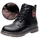 cheap Boys' Shoes-Boys' Shoes Leather Winter Comfort / Fashion Boots / Combat Boots Boots Lace-up for Black / Booties / Ankle Boots / TPR (Thermoplastic Rubber)