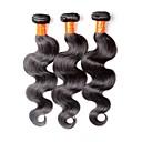 tanie Peruki z włosów ludzkich-Włosy malezyjskie Body wave Włosy virgin Fale w naturalnym kolorze Ludzkie włosy wyplata Ludzkich włosów rozszerzeniach