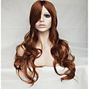 cheap Costume Wigs-Synthetic Wig Wavy / Natural Wave Asymmetrical Haircut / With Bangs Synthetic Hair Natural Hairline Brown Wig Women's Long Capless